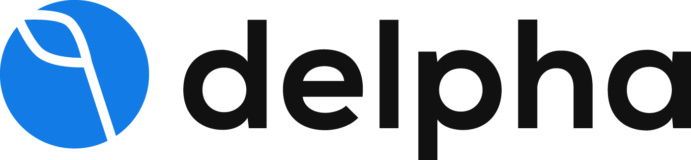 Delpha logo with name